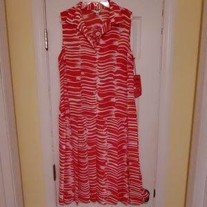 Cabi Medium #281 Brushstroke Dress NWT/ Belt